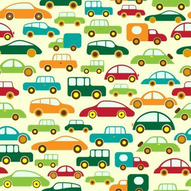 Car Seamless Wallpaper or Background stock vector