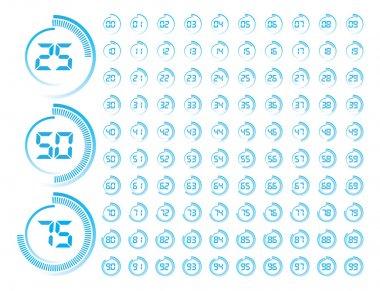 Vector Illustration of Blue Round Progress Indicator clip art vector