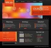Fotografie vektorové web pro podnikání. černá s zelený výhonek