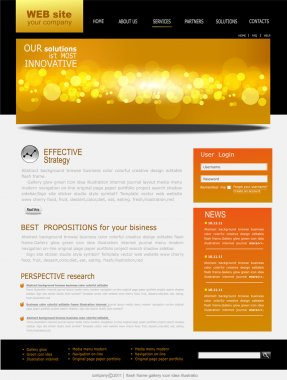 Black and yellow Vector Web site for business stock vector