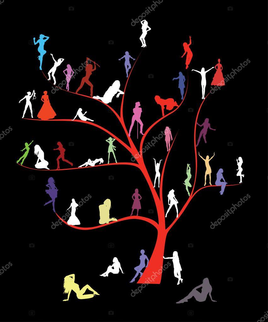 Tree with women