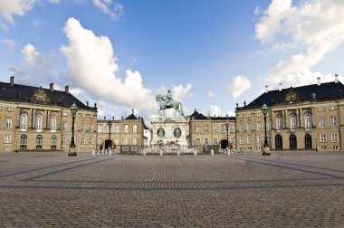 Amalienborg Palace - winter home of the royal family in Copenhagen Denmark stock vector