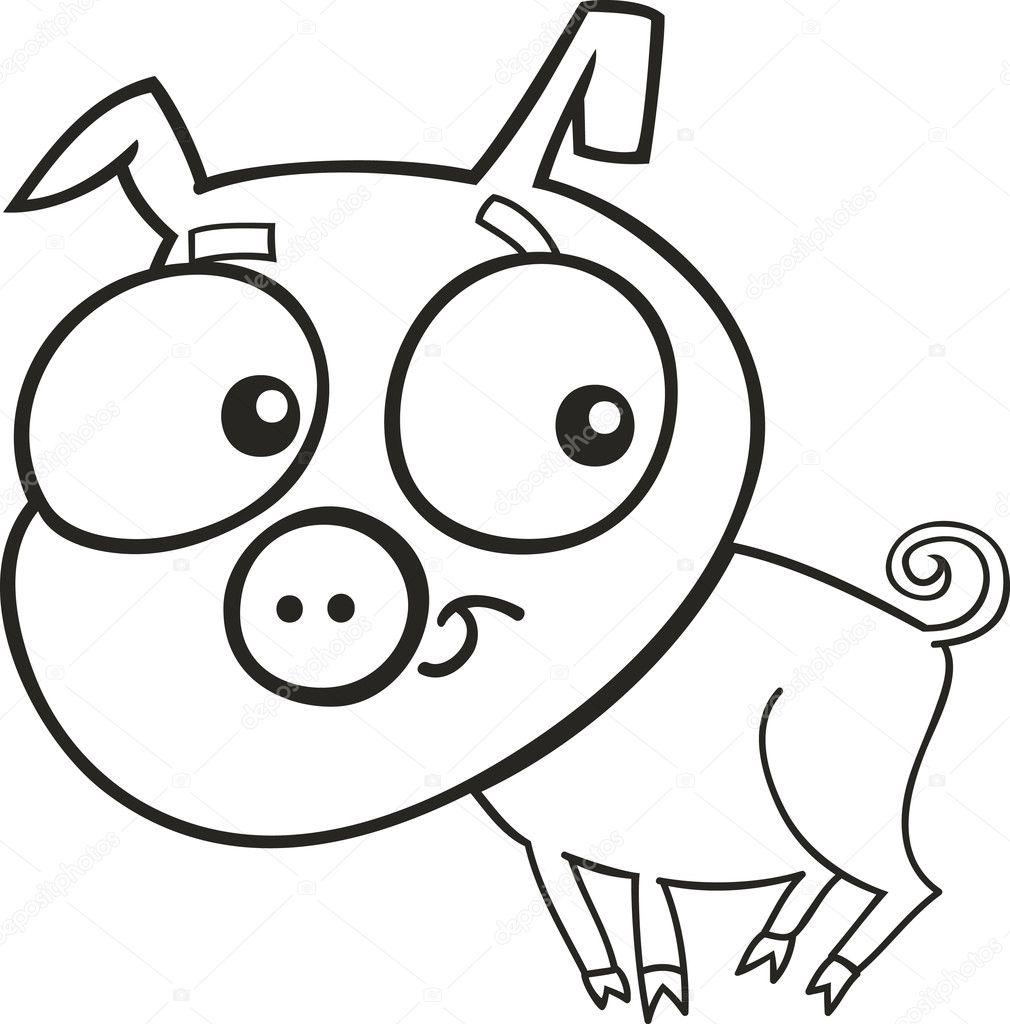 Süße Schweinchen für Malbuch — Stockvektor © izakowski #4646121