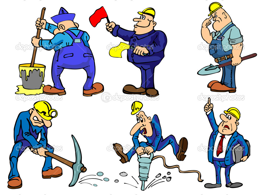 construction workers u2014 stock vector jevanto 4813265