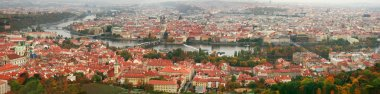 Panorama of Prague with a view of Charles Bridge