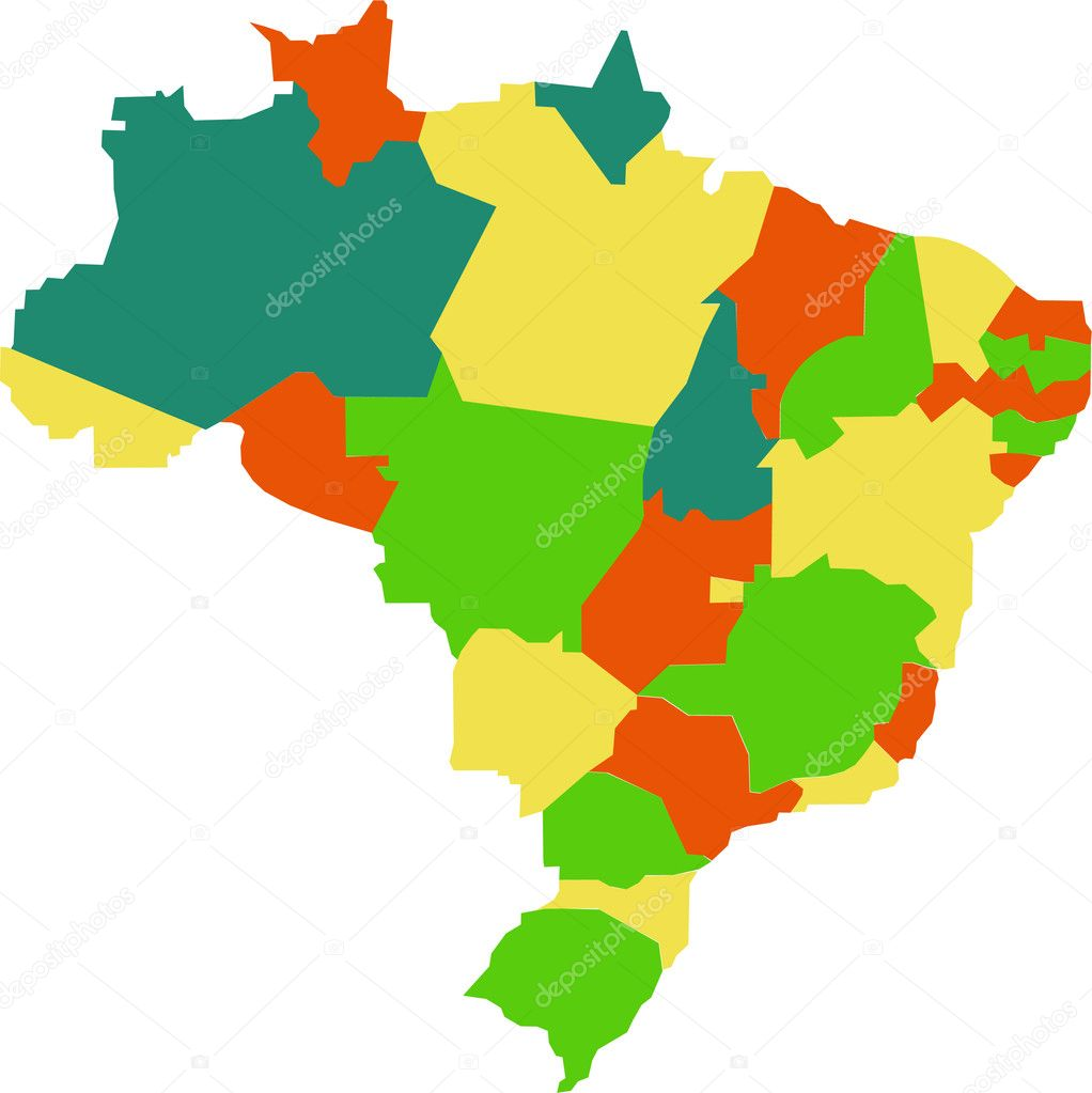 Brazilian Map Stock Vector AlexCiopata - Brazil map illustration