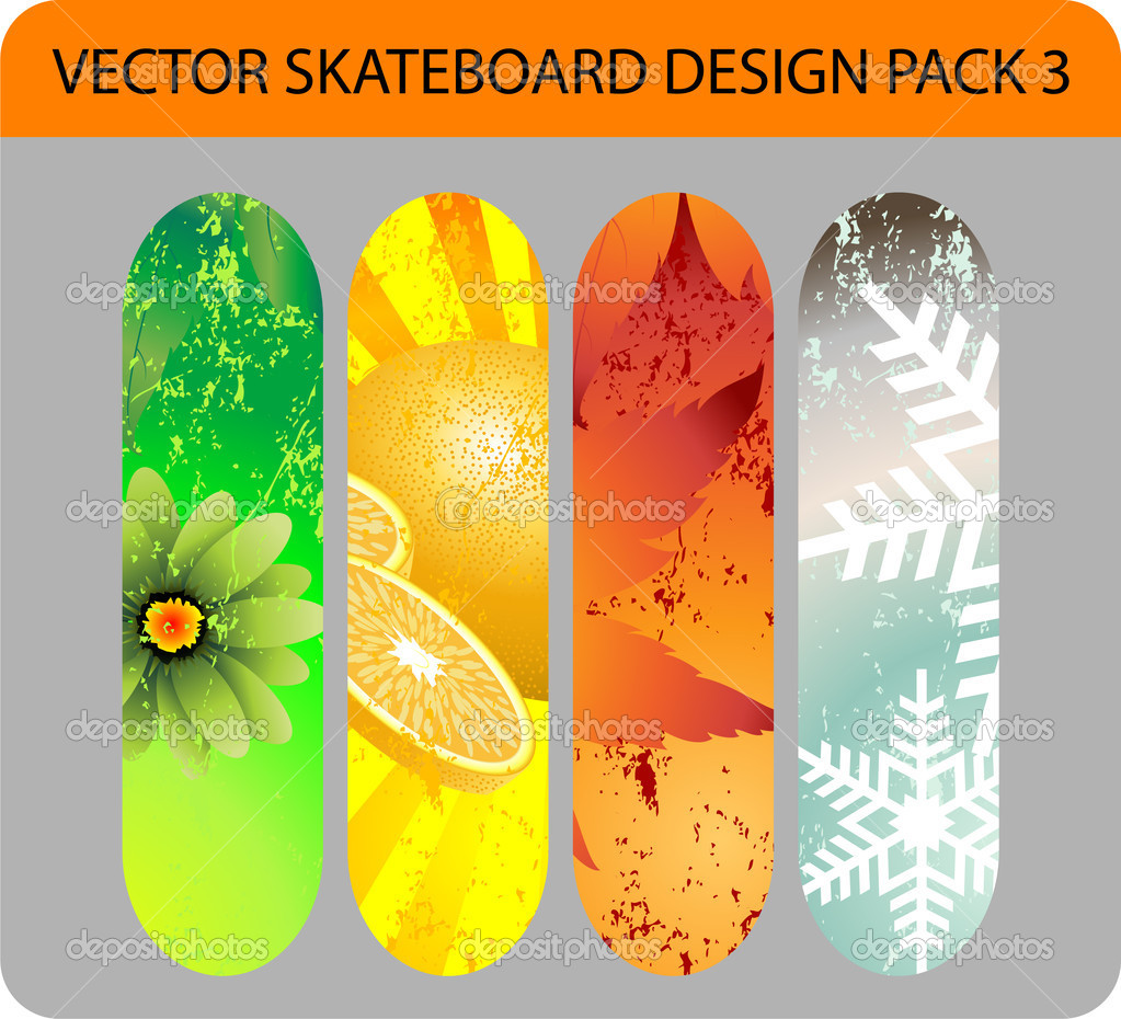 Nature skateboard design