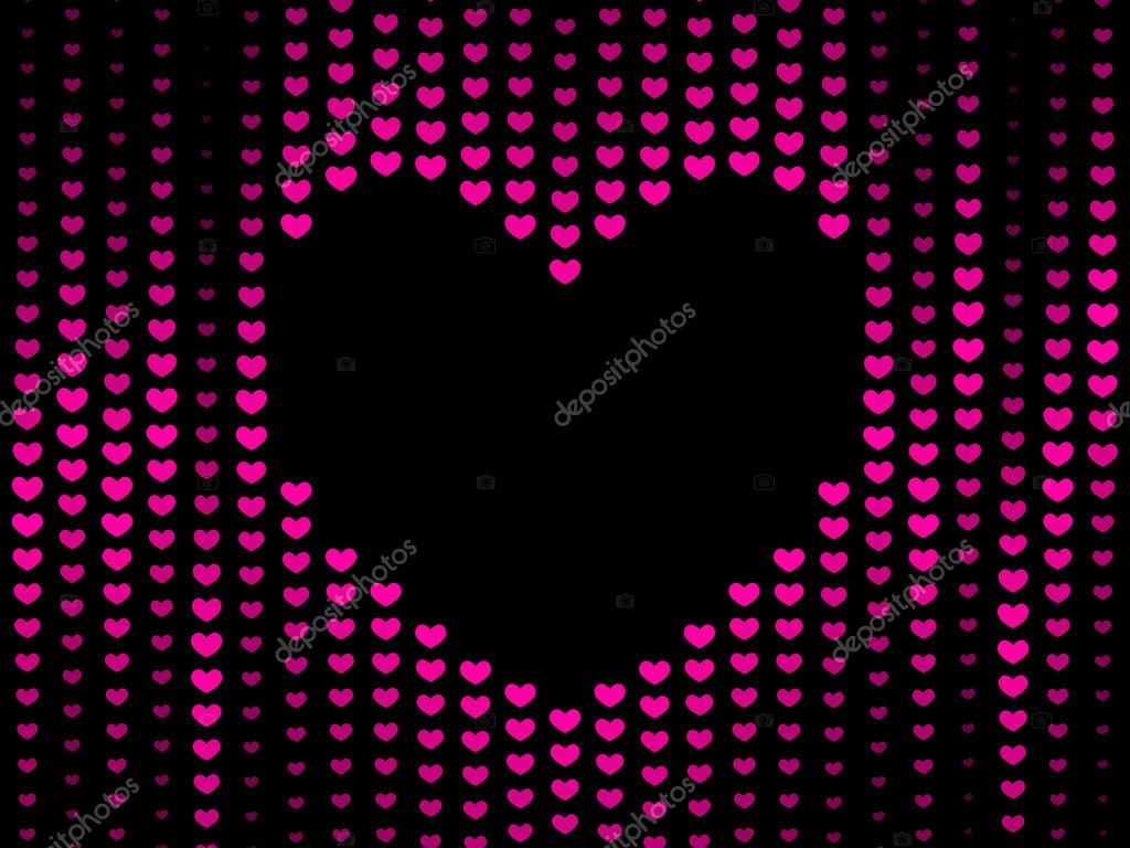 Dark Hearts background — Stock Photo © Takra #5128716