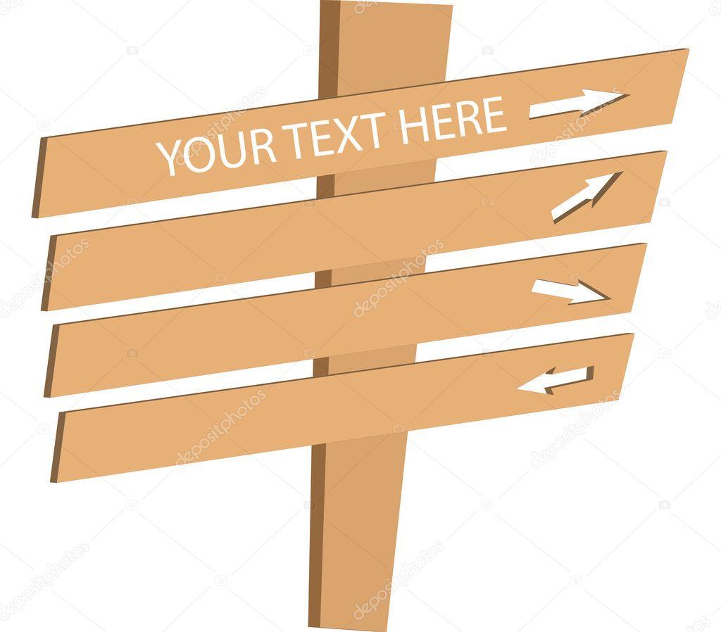 panneau en bois image vectorielle fjvsoares 4092941. Black Bedroom Furniture Sets. Home Design Ideas