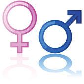 Fényképek férfi és női szimbólumok