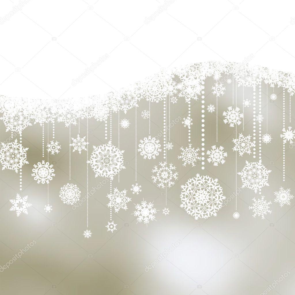 weihnachten hintergrund mit schneeflocken eps 8. Black Bedroom Furniture Sets. Home Design Ideas