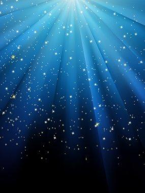 Stars on blue striped background. EPS 8