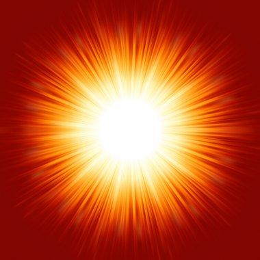A bright exploding burst. EPS 8
