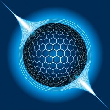 Fantasy Electric Sphere. Vector Illustration stock vector