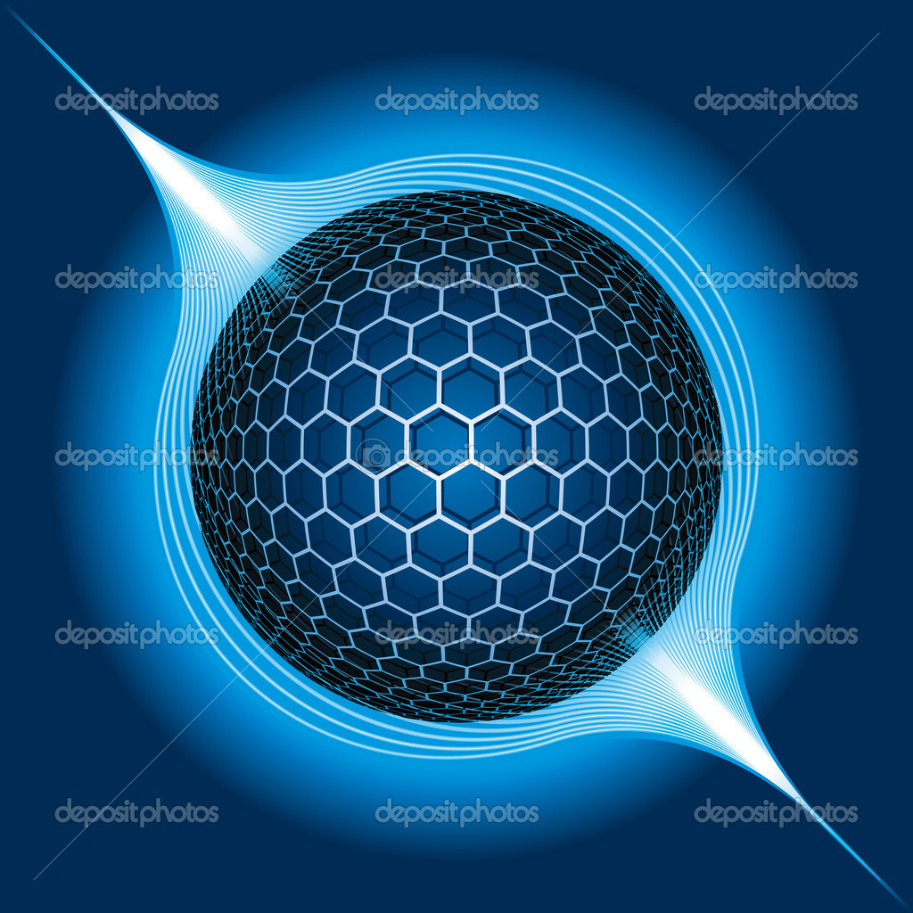 fantasy electric sphere vector illustration stock Ball Vector vector spherical harmonics c++