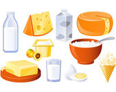 Fotografie Milk and farm products