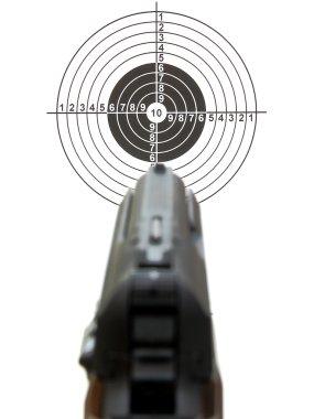 Pistol a target