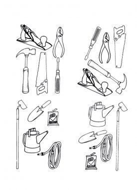 Collection vector of contours of various tools