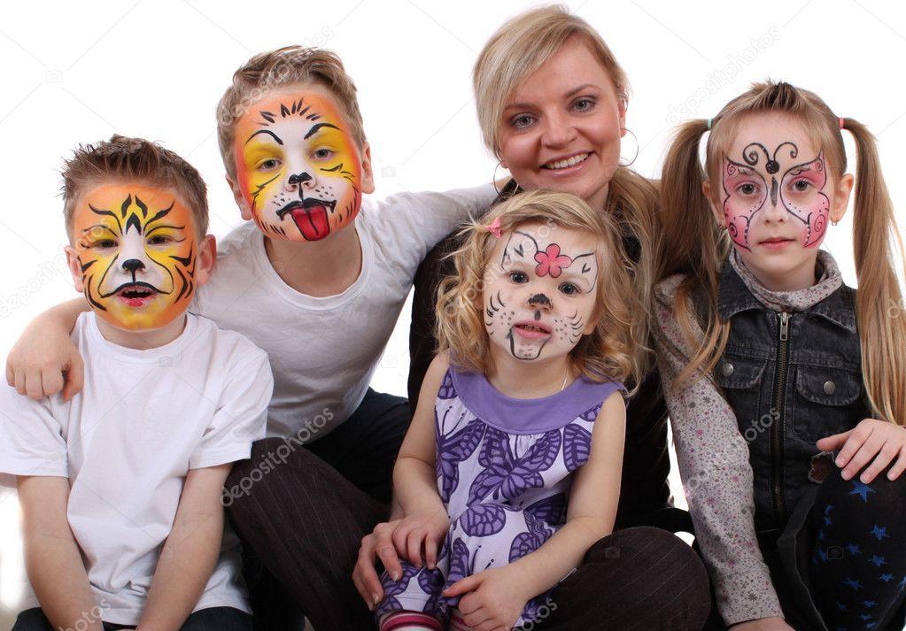 Stylist painted kids