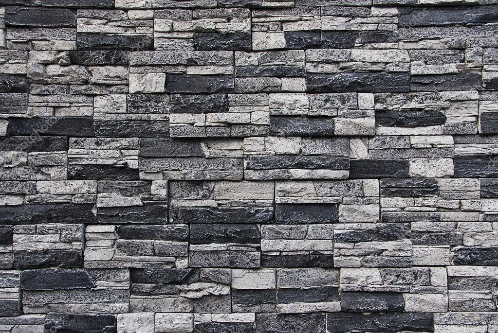 Stone facade wall