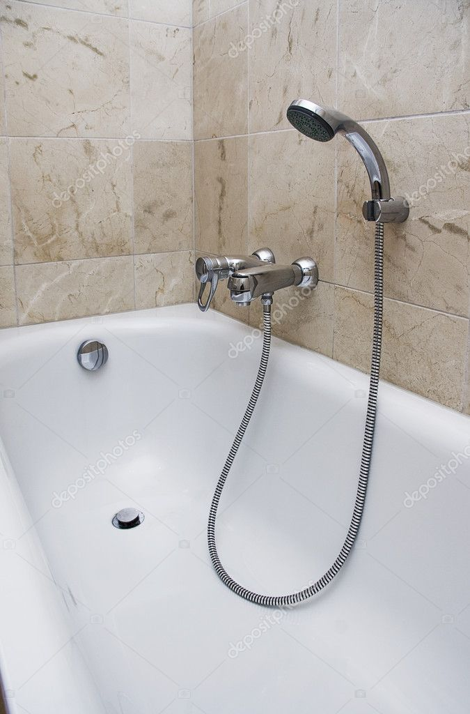 Bath with shower attachment — Stock Photo © jrphoto #3950120