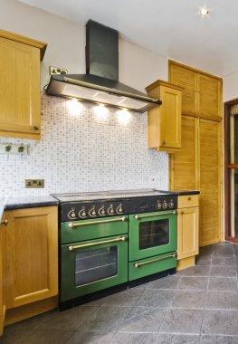 Vintage cottage kitchen with gas appliances