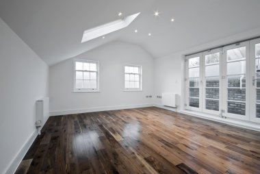 Loft room with roof window