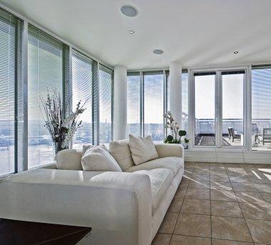 Living room with terracce access door