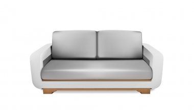 Soft gray space sofa