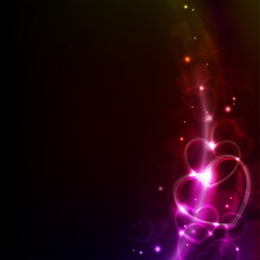 Abstract valentin`s day background with hearts clip art vector