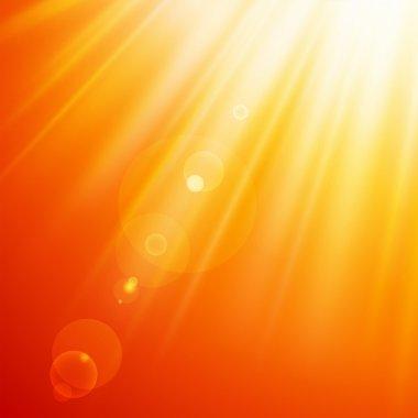 Abstract sun rays