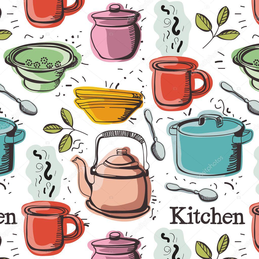 Kitchen Background Image: Stock Vector © Nenilkime #4261237