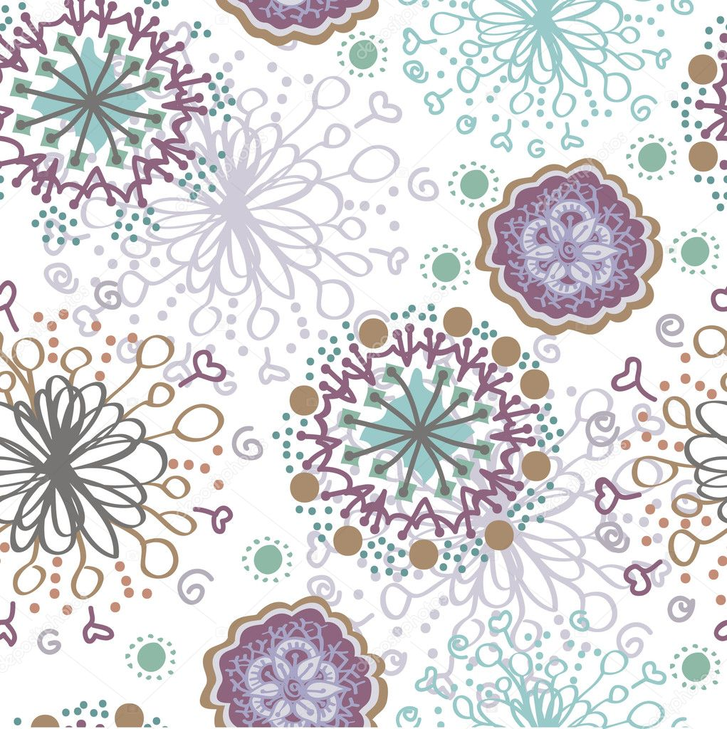 Seamless snowflakes blue and purple
