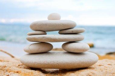 White spa stones