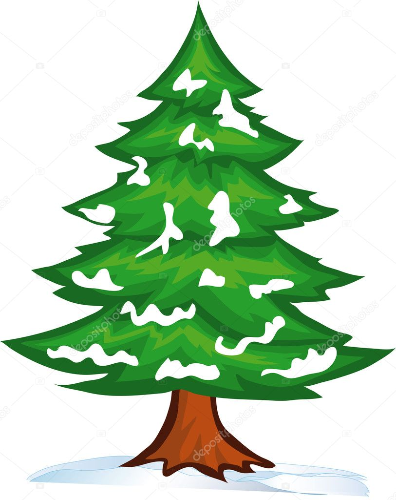Snow christmas tree stock vector exis777 4319806 - Sapin clipart ...