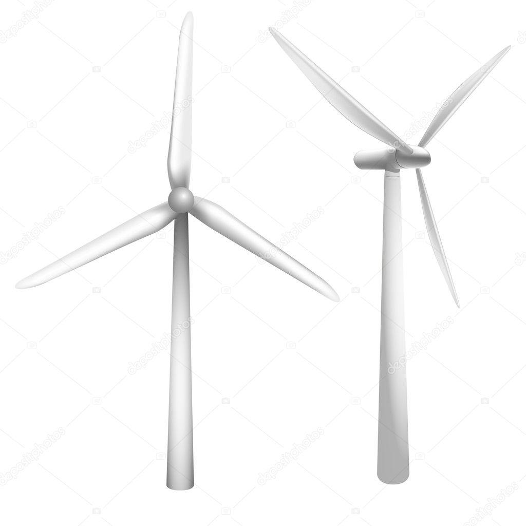 風力発電機 ストックベクター Unkreatives 5113857