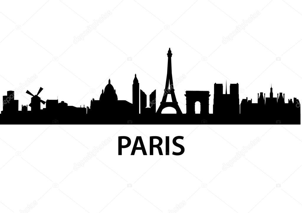 skyline paris ⬇ vector image by © unkreatives | vector stock 5272781  depositphotos