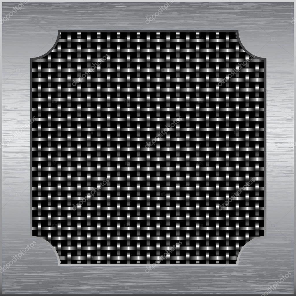 marco de metal alrededor de la malla metálica del cable — Vector de ...