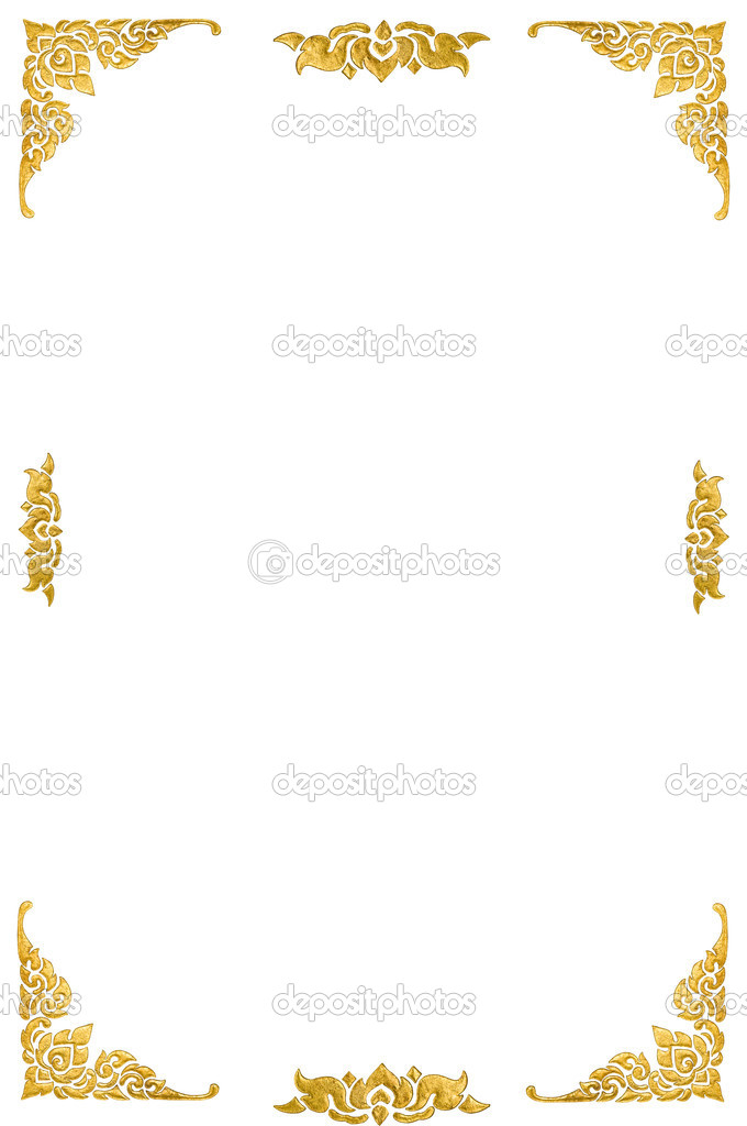 Isolated Thai painting on white background