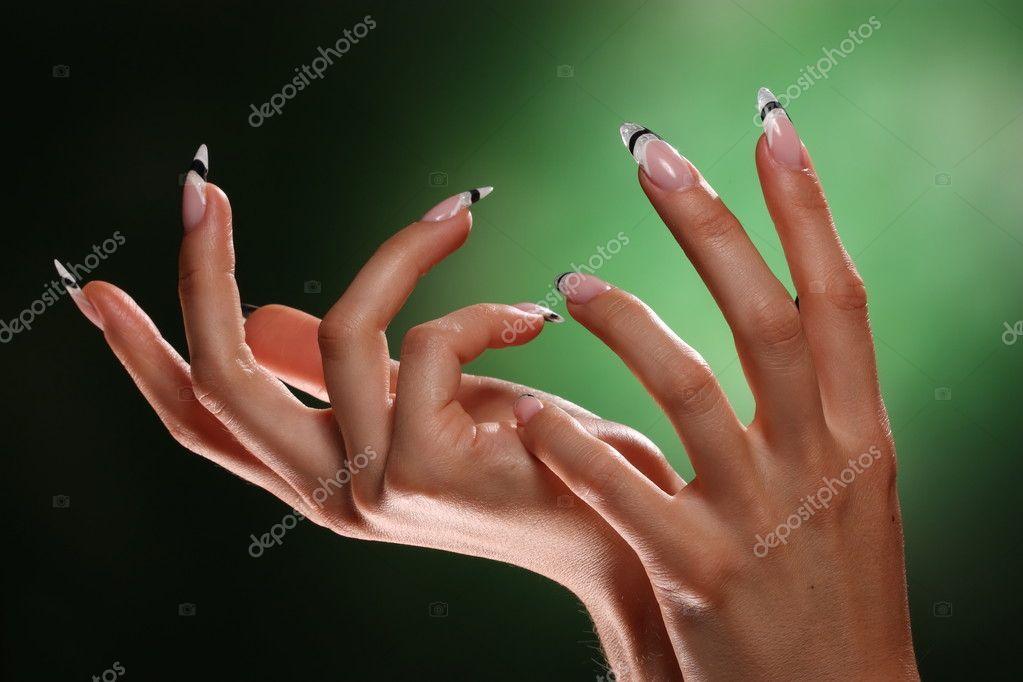 dedos y uñas hermosas — Foto de stock © elena1110 #4883115