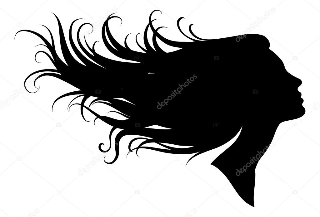 silhouette of a girl stock vector  u00a9 ninanaina 3926743 beauty salon clipart black and white beauty salon clipart png