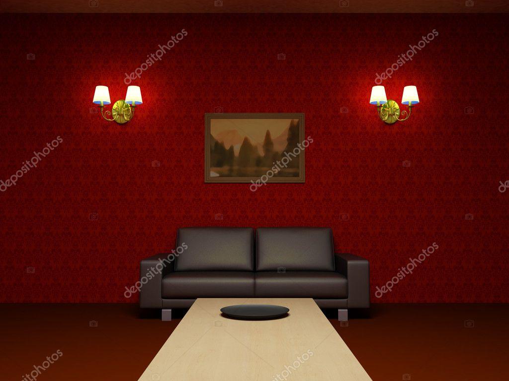 Sala Parede Vermelha Decorao De Sala De Estar Com Parede Vermelha  -> Parede Grafiada Sala