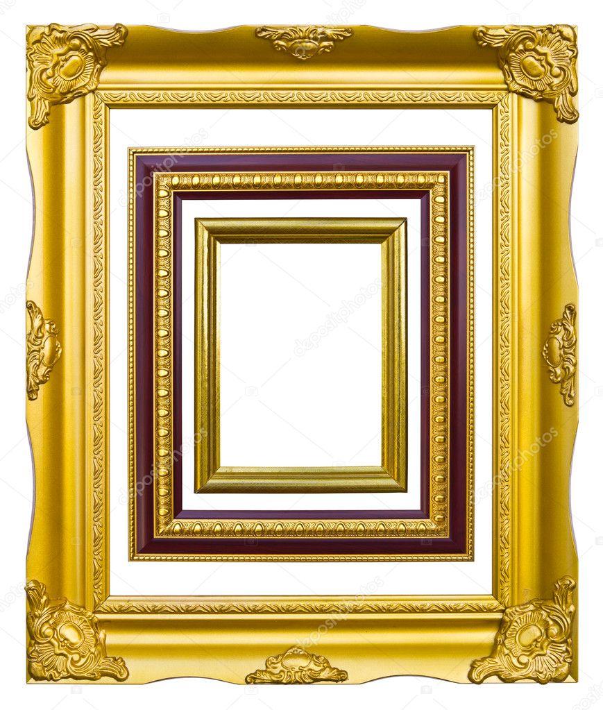 alten stil golden bild bilderrahmen — Stockfoto © tungphoto #4421218
