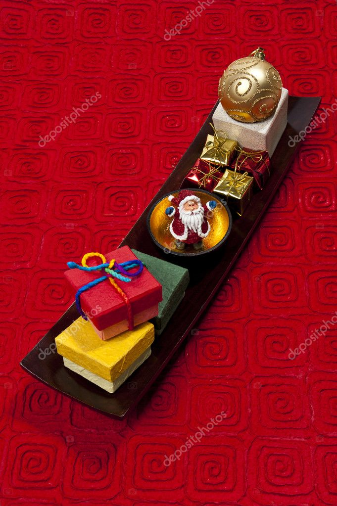 Santa In The Golden Cup Stock Photo Topstep07 4403094