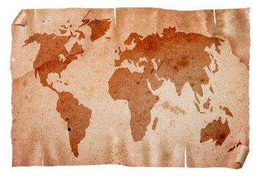 Vintage world map.