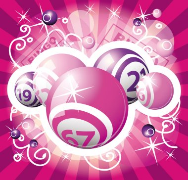 Bingo or lottery pink design