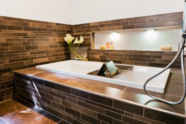 Beautiful interior of a modern bathroom