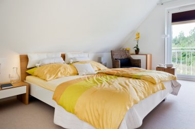 Beautiful interior of a modern bedroom