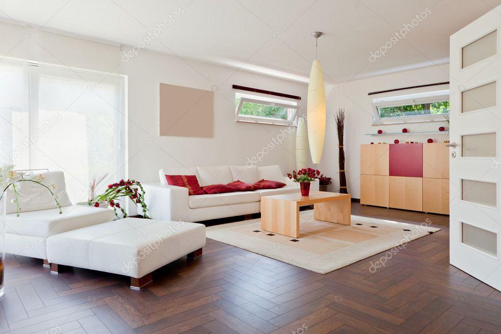 Maison Moderne Salle De Sejour Avec Les Meubles Modernes
