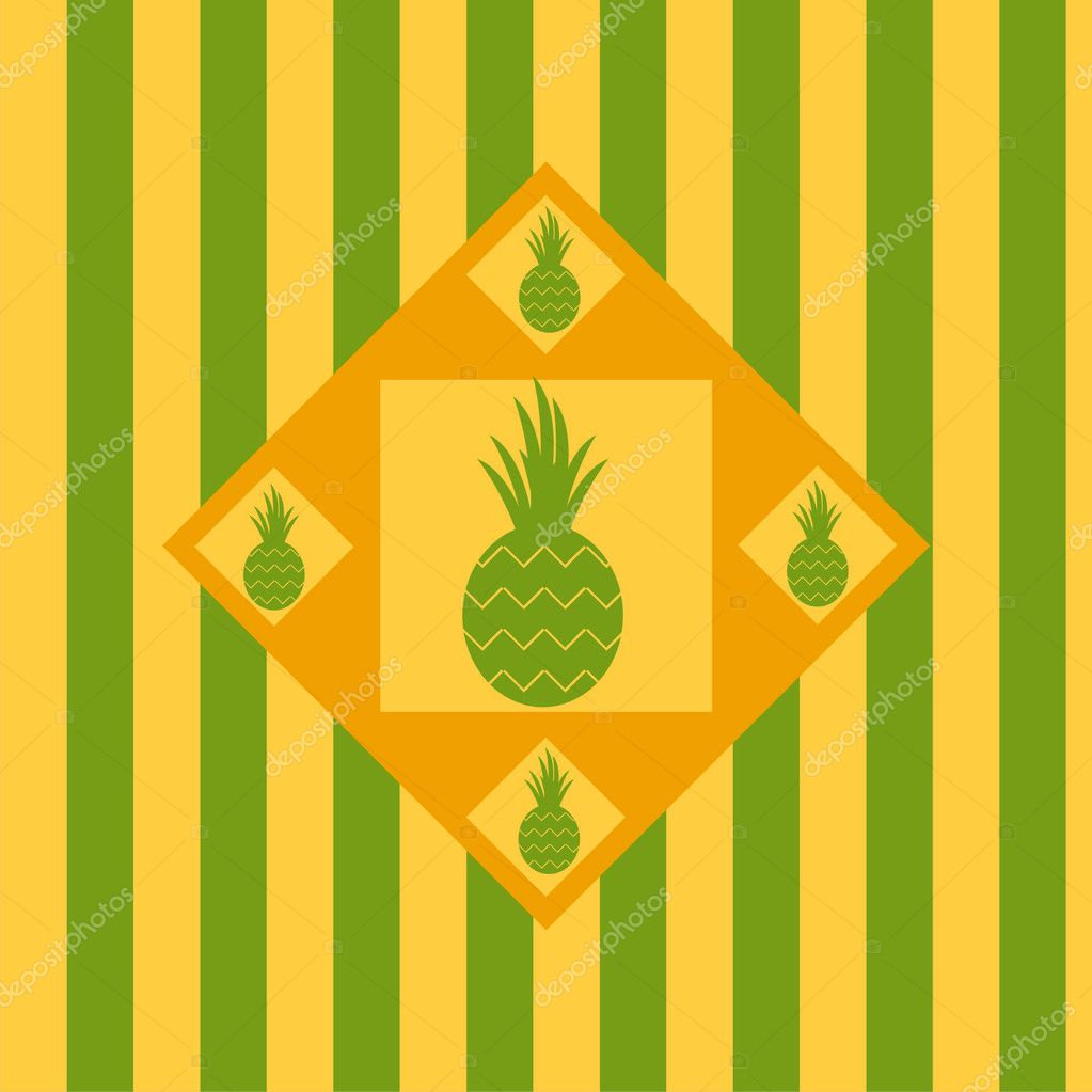 Cute Pineapple Background Vector By Isabelle